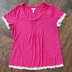 Soma Sleepwear Pajama Shirt size XL